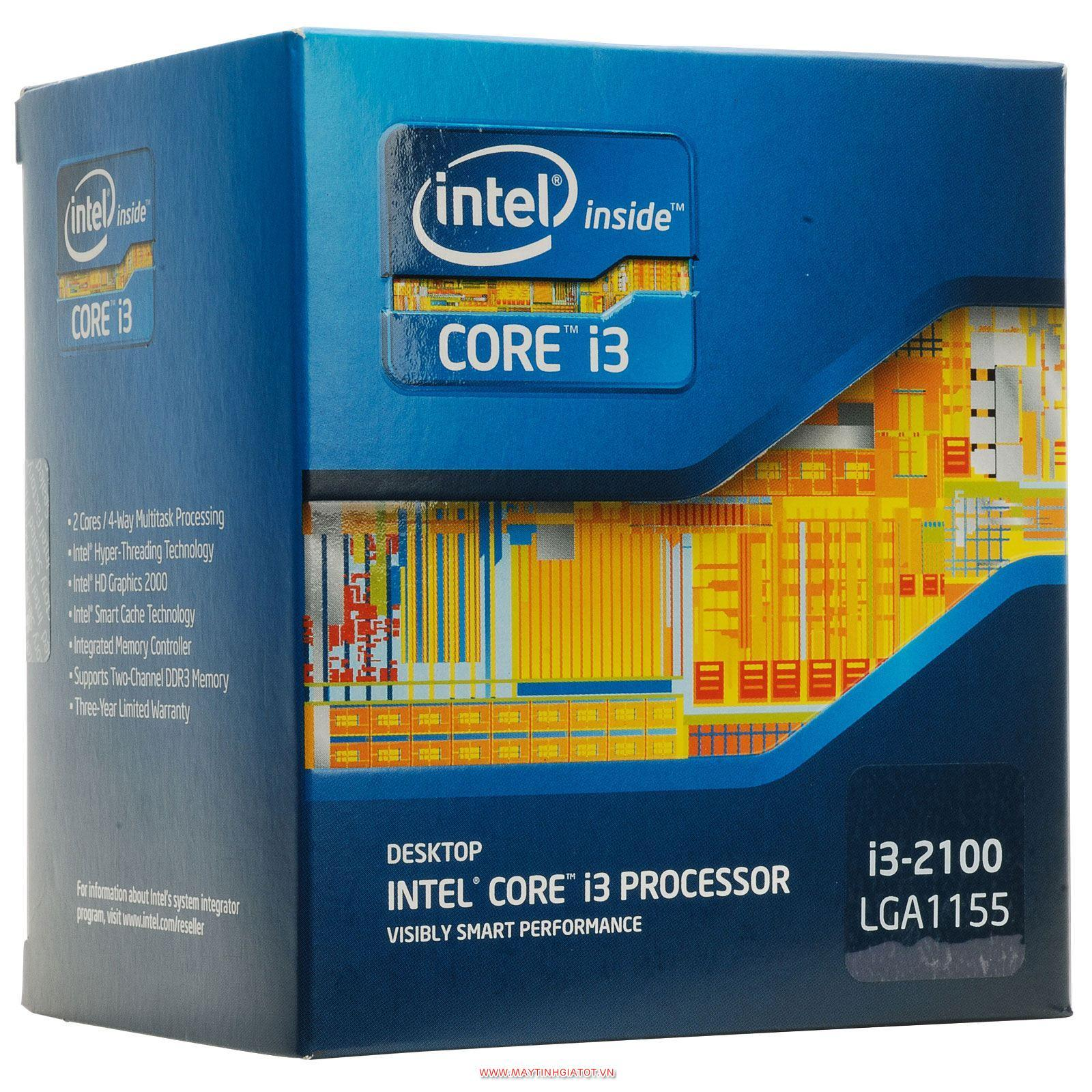 CPU INTEL CORE I3 2100 CŨ ( 3.1GHZ / 3M CACHE / 2 CORES - 4 THREADS )