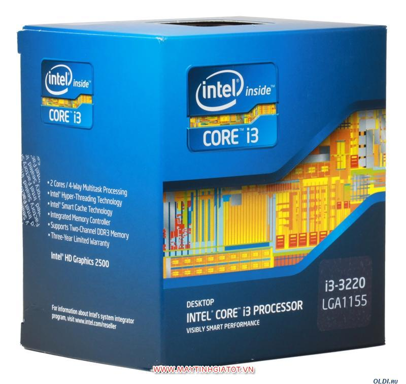 CPU INTEL CORE I3 3220 CŨ ( 3.3GHZ / 3M CACHE / 2 CORES - 4 THREADS )