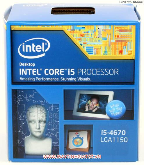 CPU INTEL CORE I5 4670 CŨ ( 3.4Ghz TURBO 3.8Ghz / 6M cache 3L )