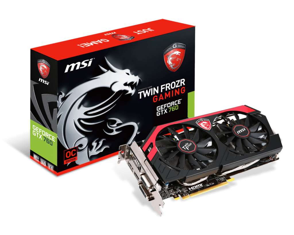 VGA MSI GTX 760 OC GAMING 2GB - 256 Bit - DDR5 ( DUAL FAN )
