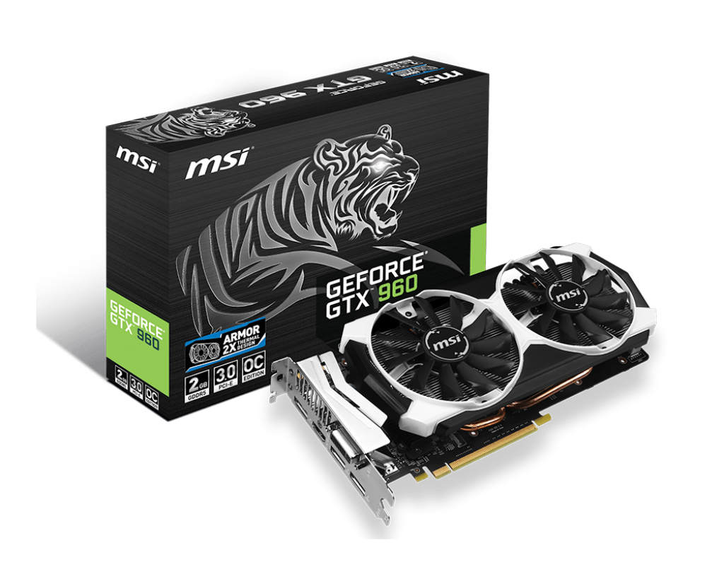 VGA MSI GTX 960 OC TIGER 2GB - 128 BIT - DDR5