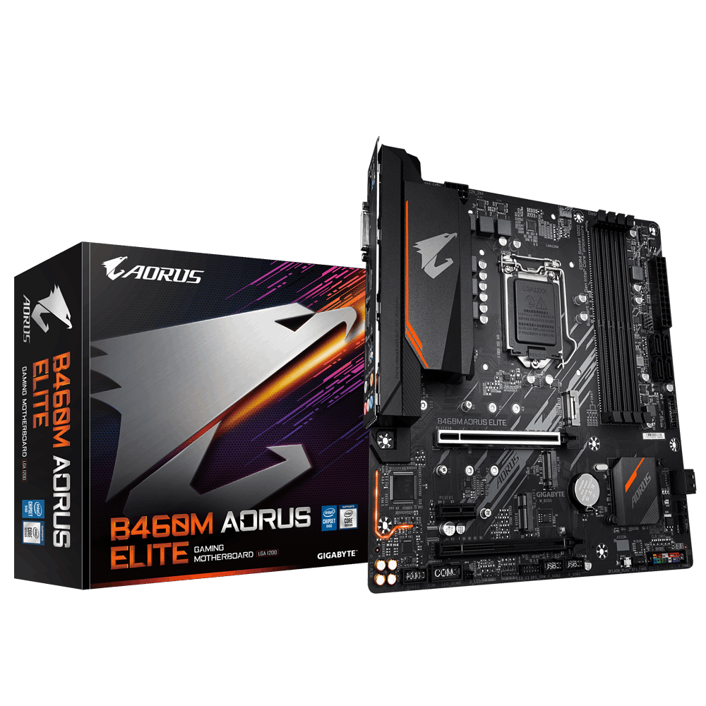 MAINBOARD GIGABYTE B460M AORUS ELITE (Chipset Intel B460/ Socket LGA1200)